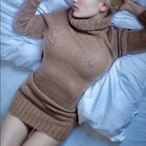 ZARA soft mohair bodycon turtleneck dress or tunic